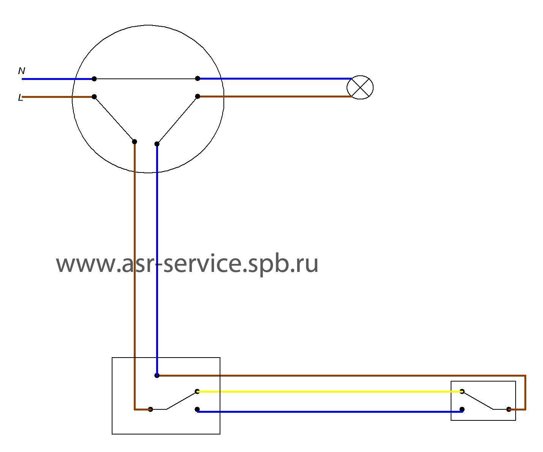 Как подключить две лампочки на один выключатель схема